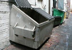 benne à ordure pour recyclage des métaux