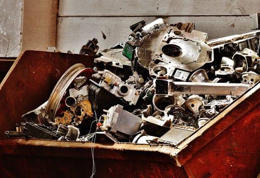 service de récupération de métal